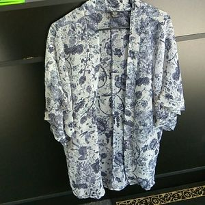 Tops - Missy Sheer Floral Kimono one size